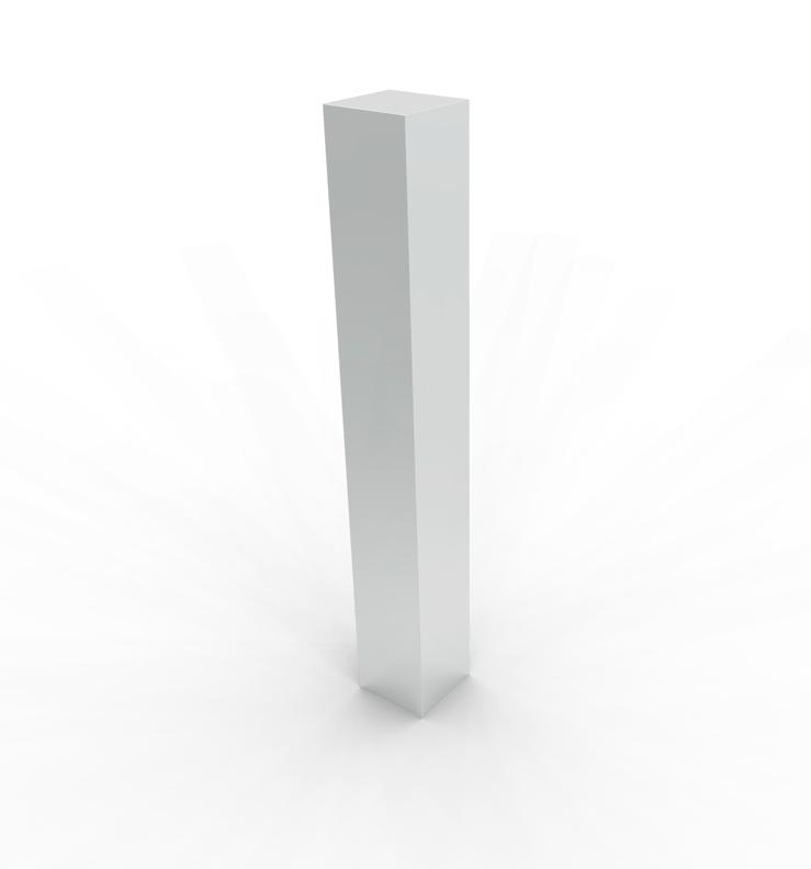 5-Inch square bollards