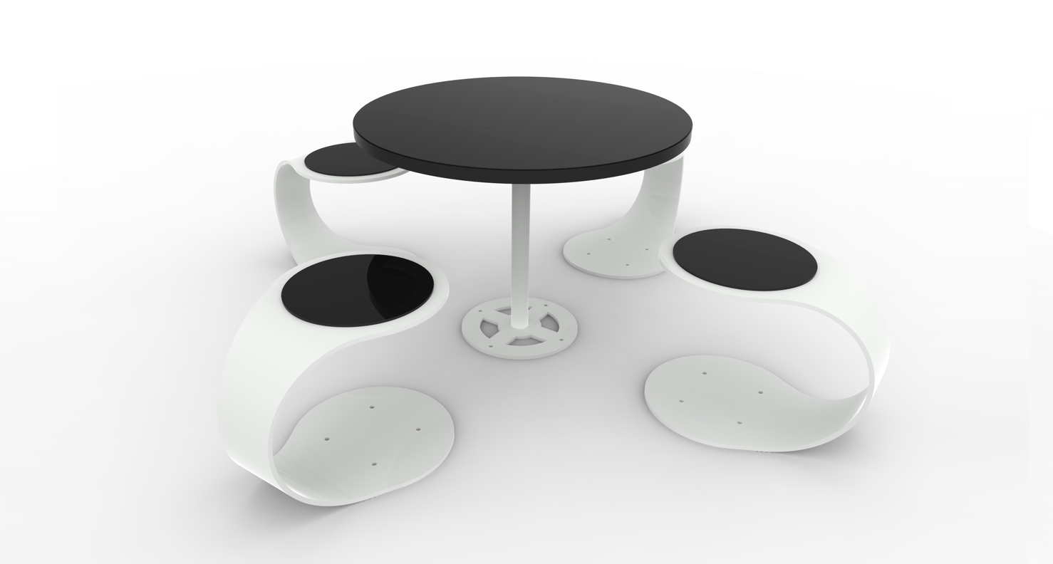 The spring seats and table