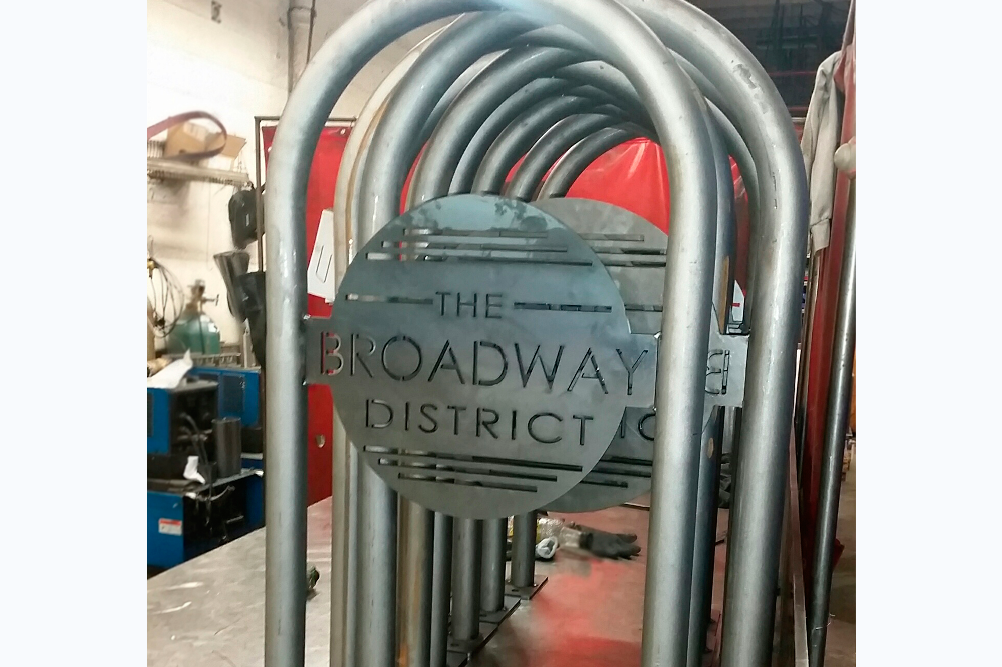 Our Rambler and Rambler Wide racks are often customized with site-specific signage.