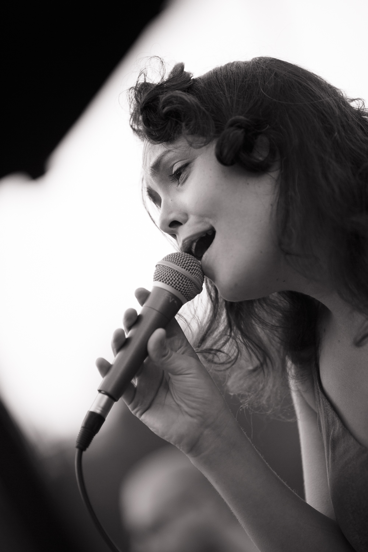 Eva Poženel - a multidisciplinary artist, combining classical, jazz, folk & modern singing
