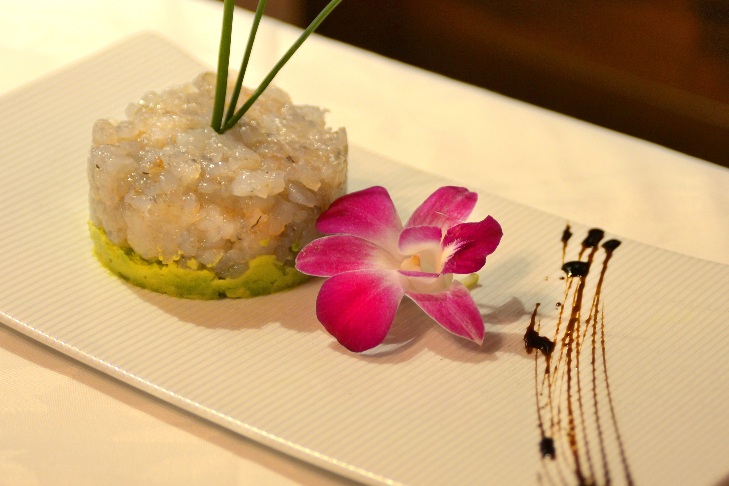 Shrimp Tartar on Avocado Bed