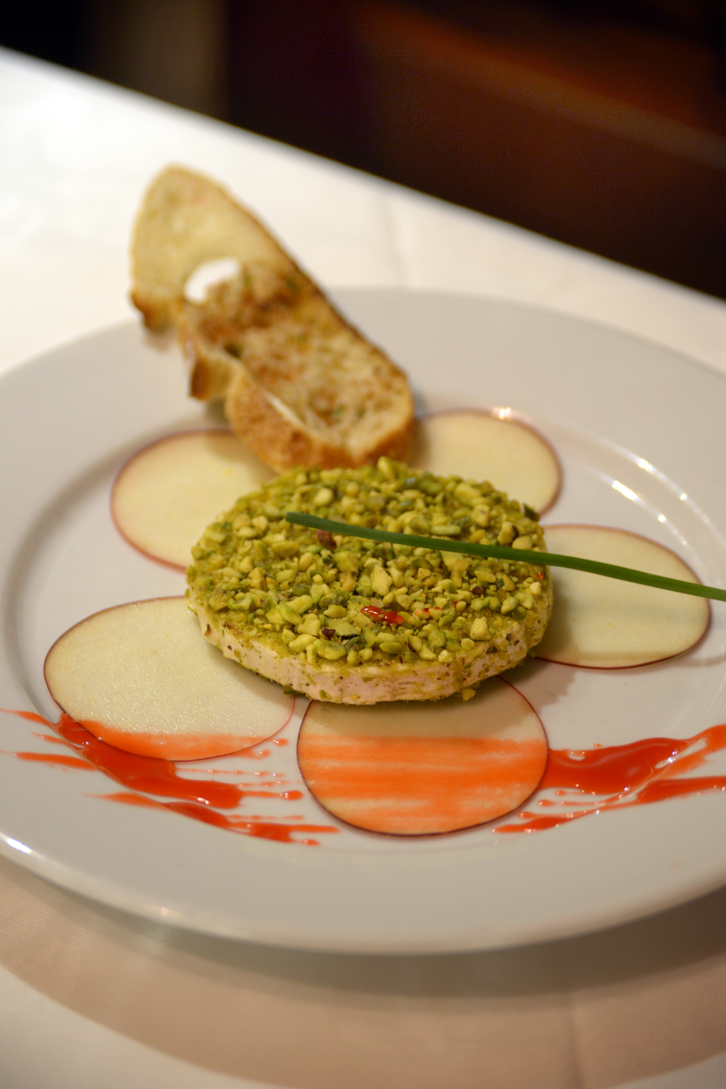 Seared Goat Cheese and Pistachio