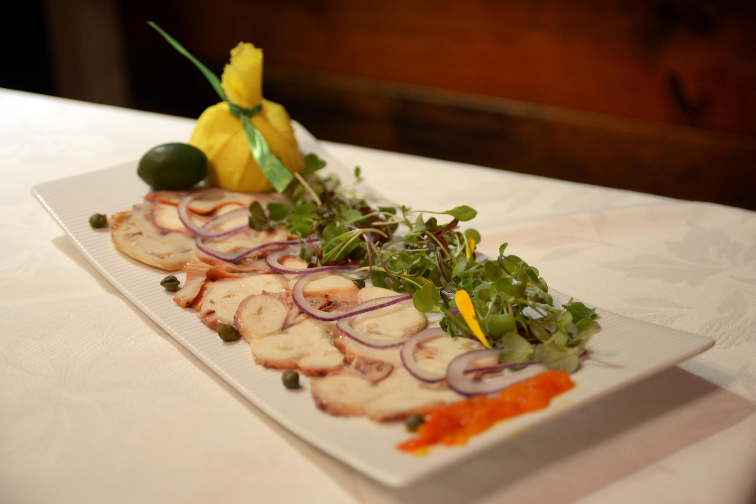 Seafood Octopus Carpaccio