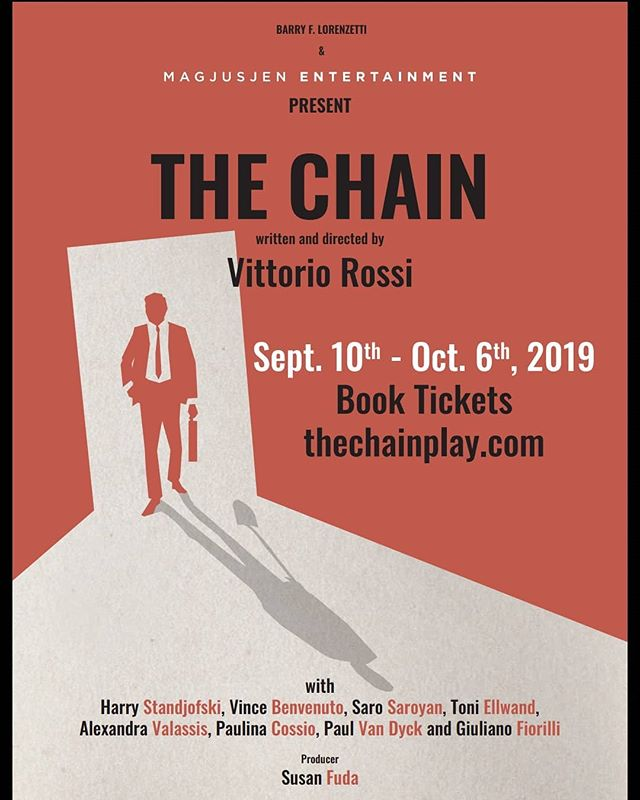 """Bis is honoured to announce the award winning play """"The Chain"""" written by our own montrealer Vittorio Rossi.  See you there on tuesday🎭🎭 Book the tickets ⏩ http://magjusjenentertainment.ca/event/thechaintheplay/ #thechain #vittoriorossi"""