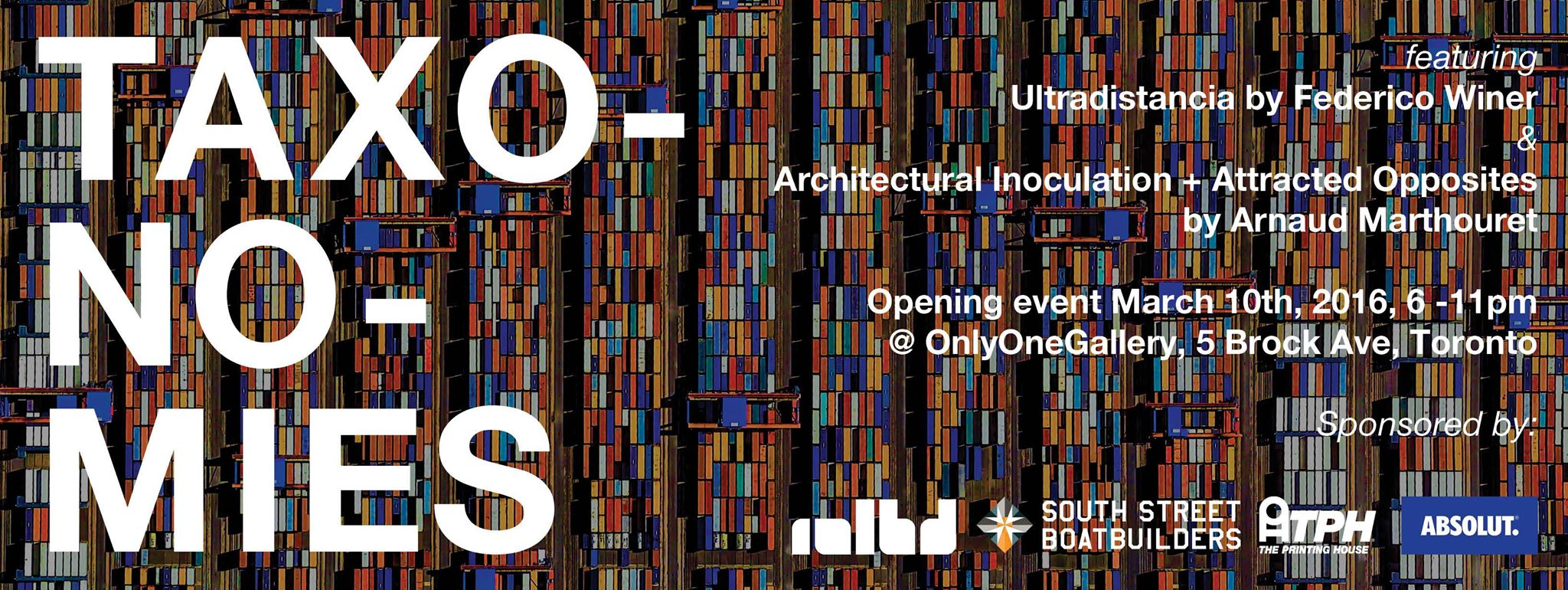 Ultradistancia-Taxonomies Exhibition at Onlyone Gallery Toronto. Web Flyer