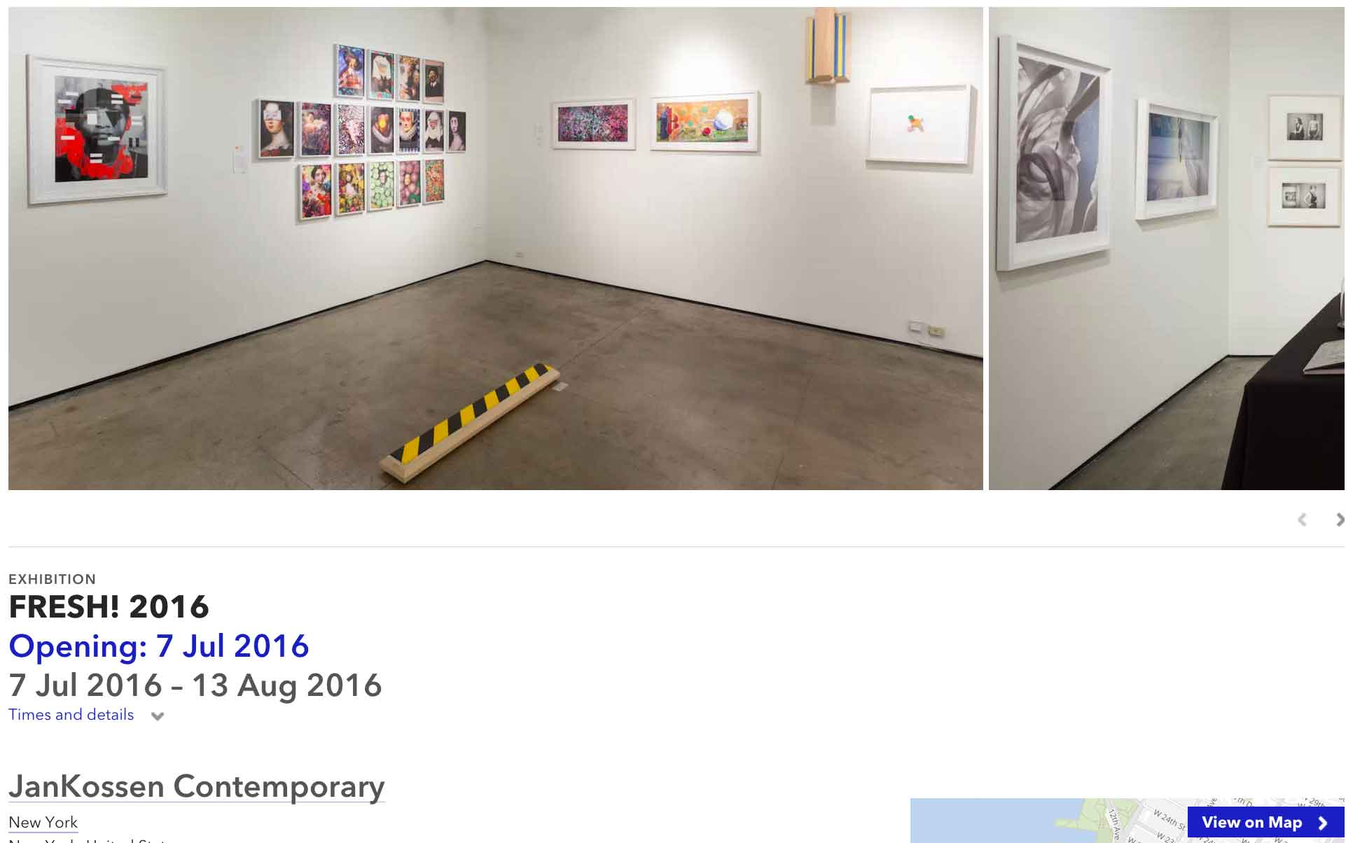 ULTRADISTANCIA at FRESH! exhibition. JanKossen Gallery New York. Installation Shot.