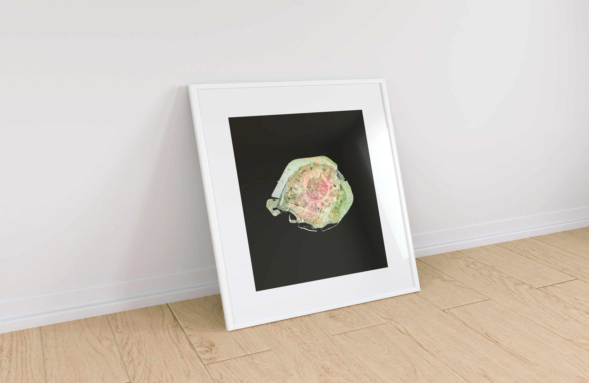 In Room, White Frame With Mat