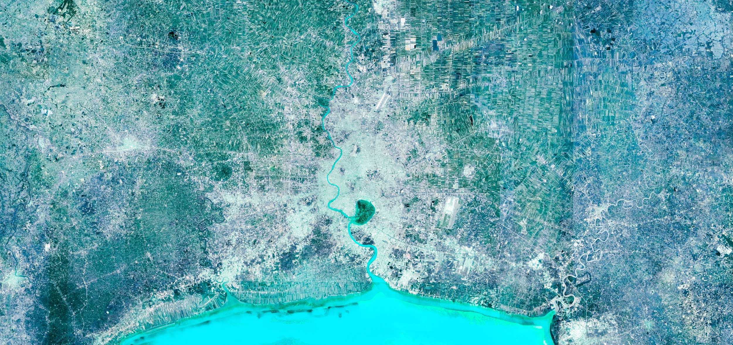BANGKOK  Bangkok, Thailand.  Featured in Google Earth's Voyager  Cities