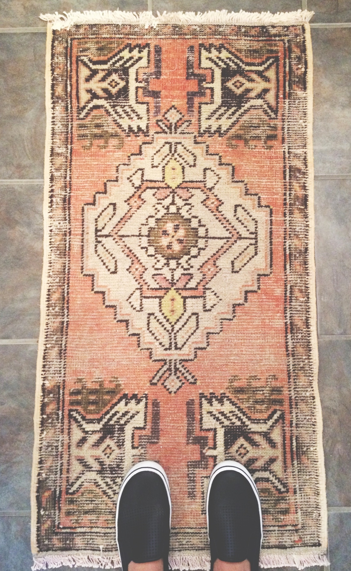 """I have an obsession with rugs-- mostly vintage, persian, overdyed, oriental, you name it. I found this baby on                      Normal   0           false   false   false     EN-US   JA   X-NONE                                                                                                                                                                                                                                                                                                                                                                               /* Style Definitions */ table.MsoNormalTable {mso-style-name:""""Table Normal""""; mso-tstyle-rowband-size:0; mso-tstyle-colband-size:0; mso-style-noshow:yes; mso-style-priority:99; mso-style-parent:""""""""; mso-padding-alt:0in 5.4pt 0in 5.4pt; mso-para-margin:0in; mso-para-margin-bottom:.0001pt; mso-pagination:widow-orphan; font-size:12.0pt; font-family:Cambria; mso-ascii-font-family:Cambria; mso-ascii-theme-font:minor-latin; mso-hansi-font-family:Cambria; mso-hansi-theme-font:minor-latin;}       Etsy   and I want to curl up in a ball and lay on it all day long I love it so much."""