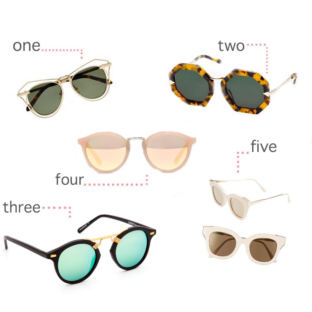 one  I  two  I  three  I  four  I  five