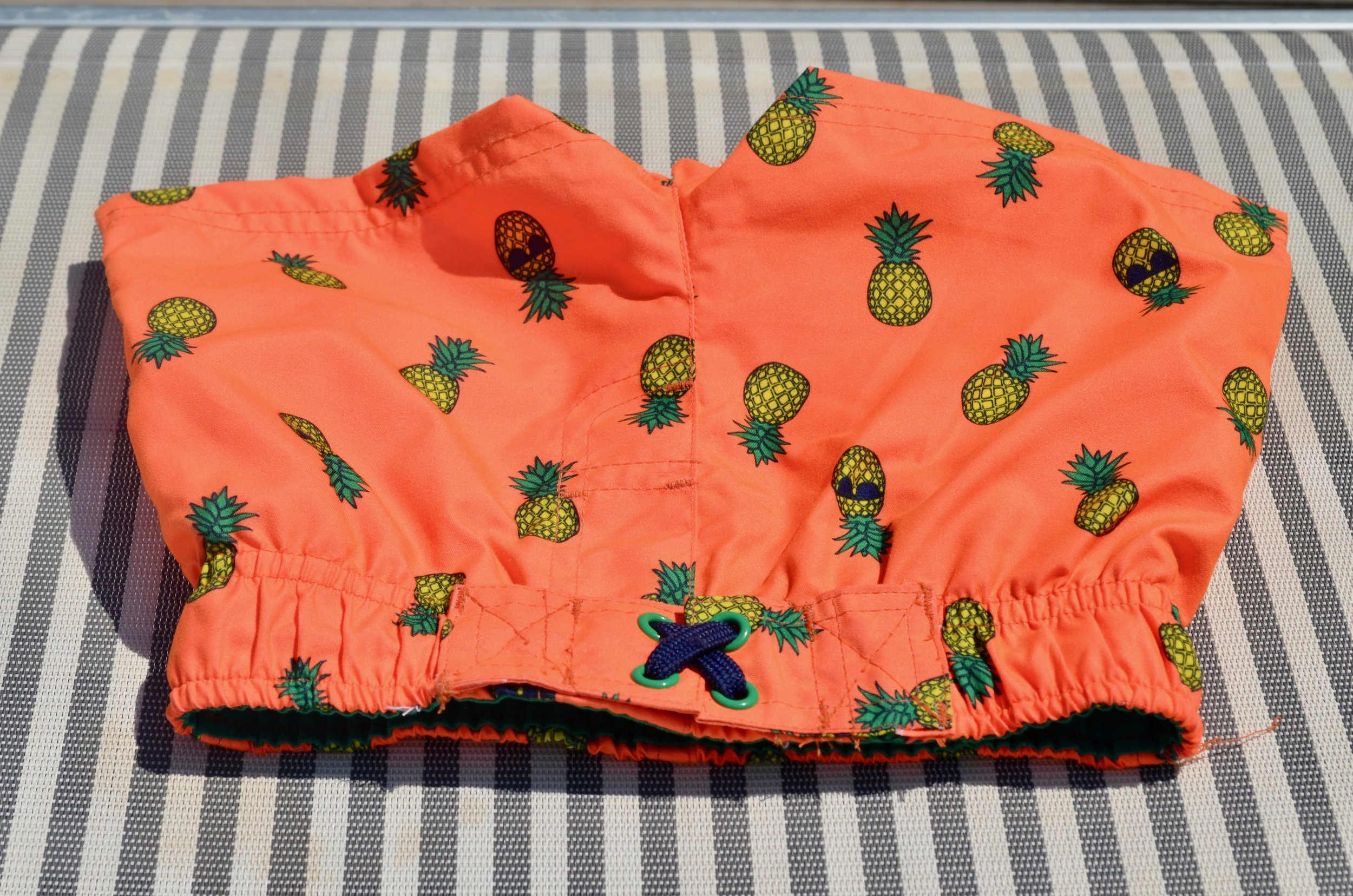 Cute little swim trunks for the cutest booty around.