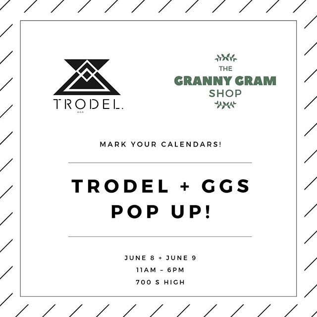 Yay it's a holiday weekend & we have an exiting announcement✨ Teaming up with our sisters @grannygramshop for our pop up in June! Be sure to come say hi for sips & shops 🥂 + + + + #trodel #trodelshop #grannygramshop #ggs #614magazine #asseenincolumbus #columbusblogger #columbusunderground