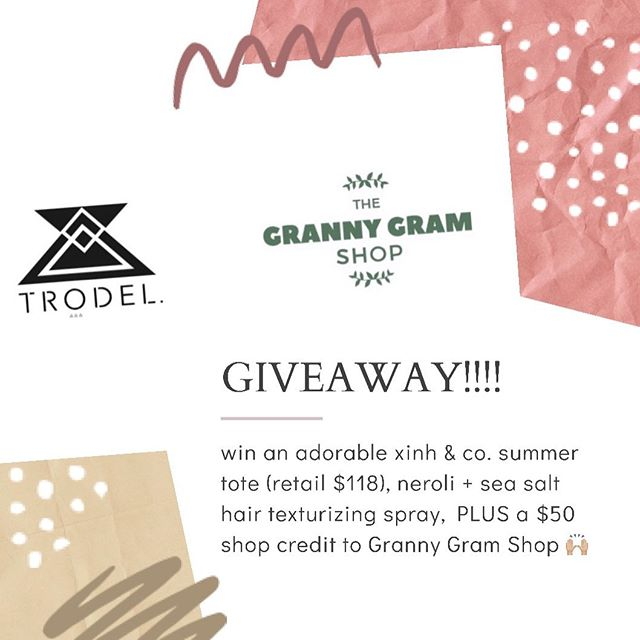✨GIVEAWAY !!✨ Kicking off summer this lovely Memorial Day by doing a giveaway with our fav ladies @grannygramshop - Win this gorgeous straw bag, our fav neroli & sea salt spray by @handmadelaconner (both PERFECT for summer) & a $50 shop credit to @grannygramshop 🙌🏼 To enter simply like this post & tag all of your friends (each tag counts as an entry). Winner must be following @grannygramshop & @trodelshop and will be announced next Monday 6/3. Happy tagging ! + + + + #trodel #trodelshop #popupboutique #popupshop #asseenincolumbus #columbusblogger #columbusunderground #614magazine #shoplocal #grannygramshop #ggs