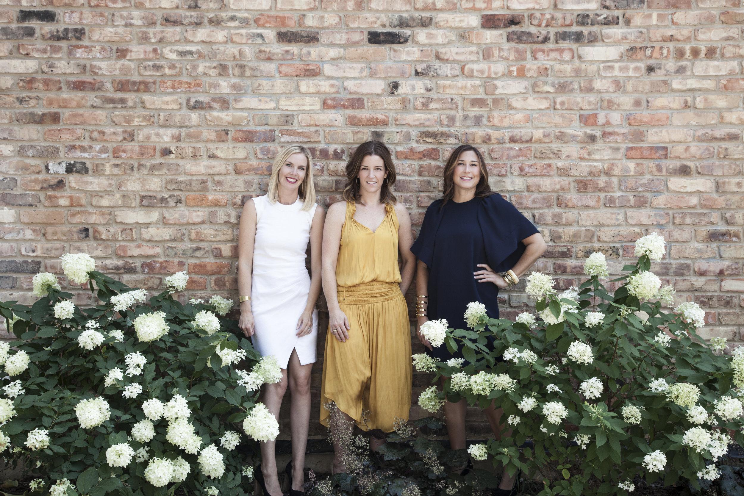 Left to right: Kristen Ekeland, Jennie Bishop, and Melissa Benham; Photo credit: Erika Dufour Photography