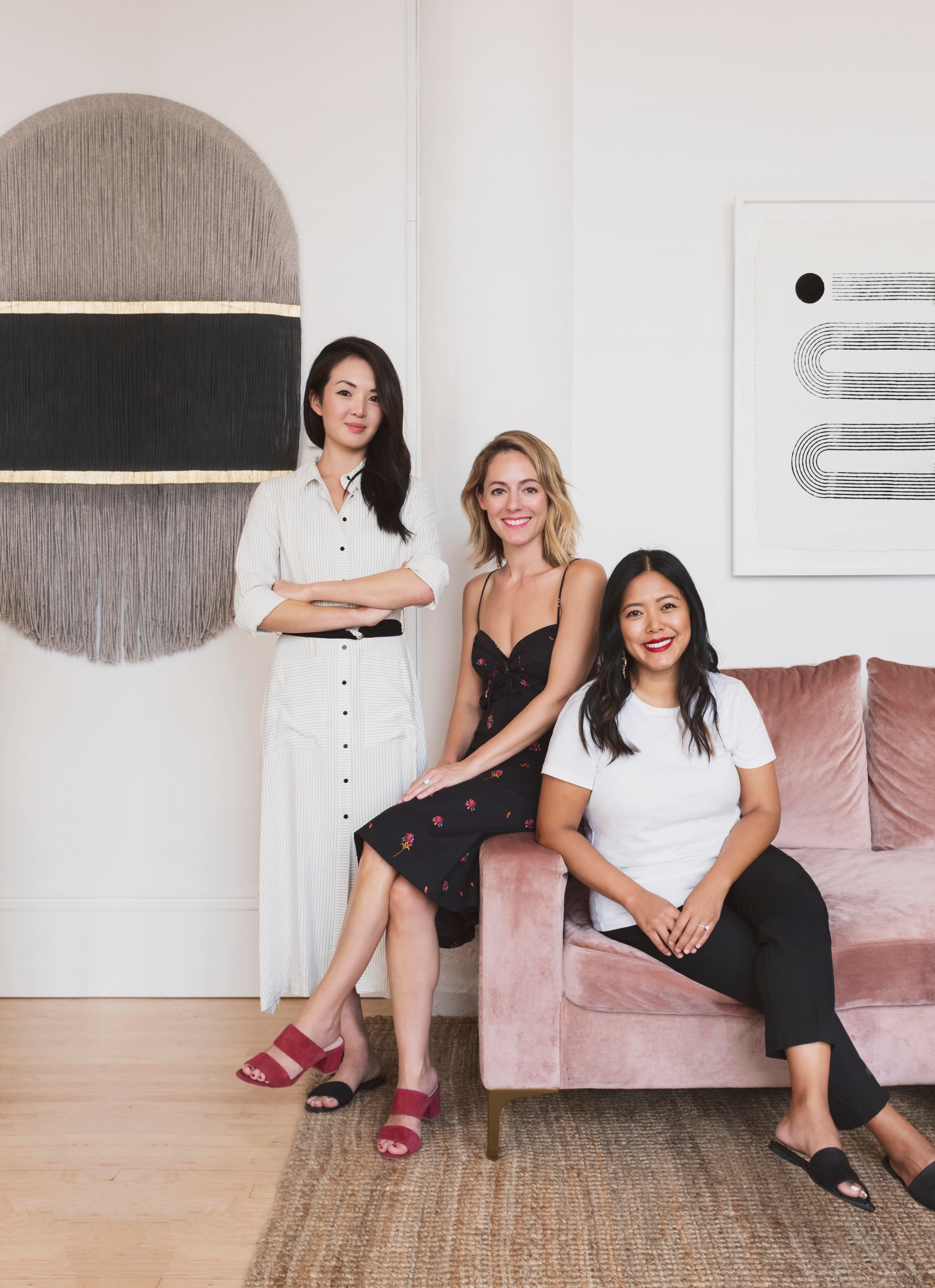 (Foundation PR founders from left to right: Jane Lim, Kelly Fobar Davis, Jenny Lin; Photography by Seth Caplan, photo provided by DATE Interiors.)