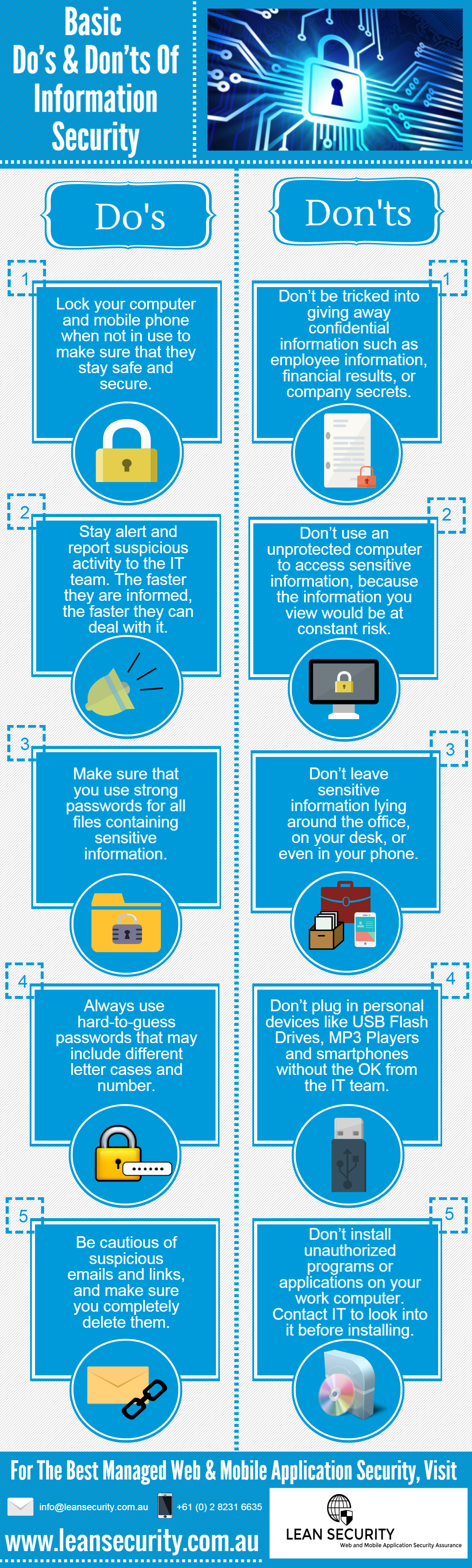 Basic Do's and Don'ts of Information Security