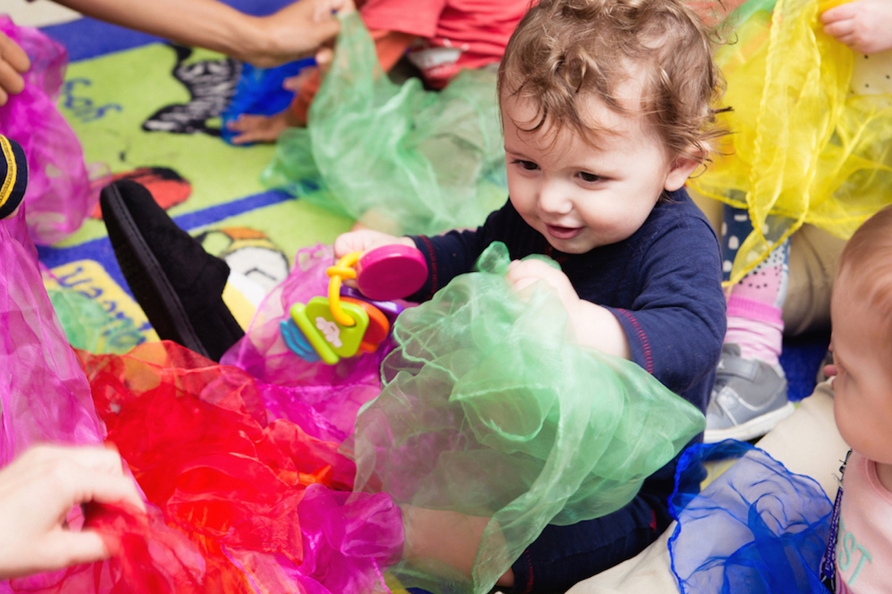 Creative movement and props - When you place a prop in a child's hand, their inhibitions melt away. Children are now free to explore the space around them while developing their spatial awareness and move their bodies in new, creative ways.