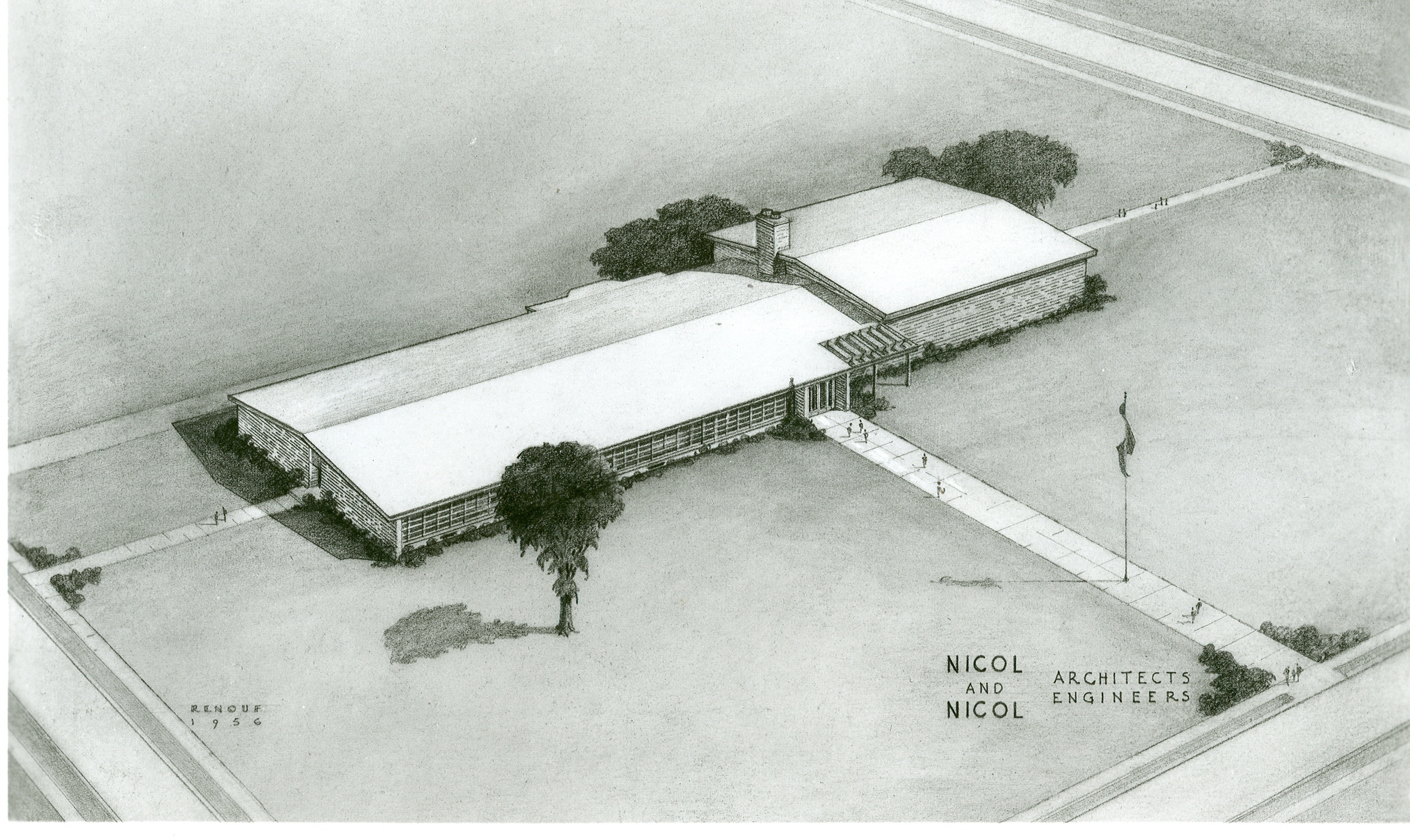 Architects rendering of Anderson, Davis and Richmond Schools