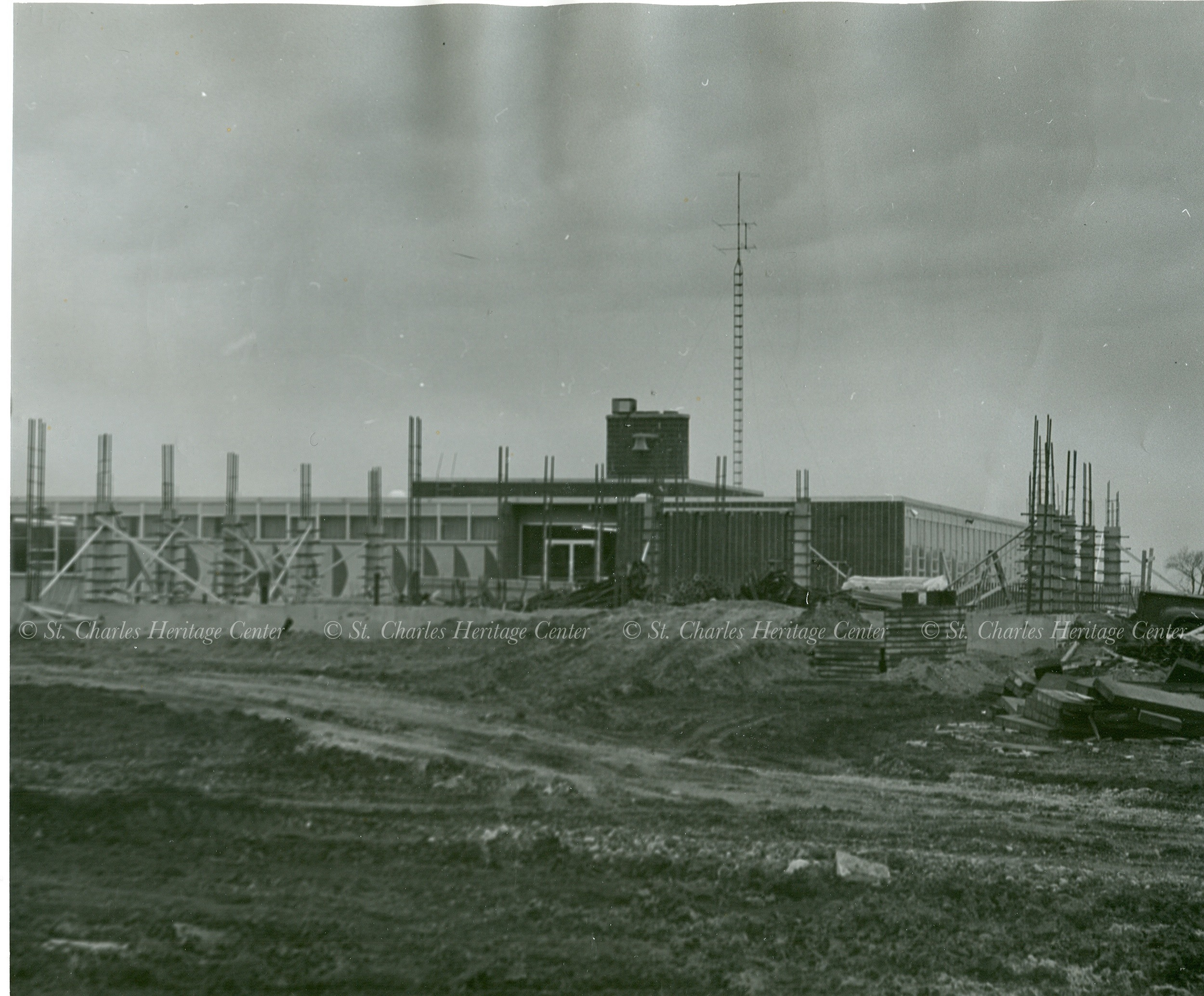Construction of Haines Junior High 1957