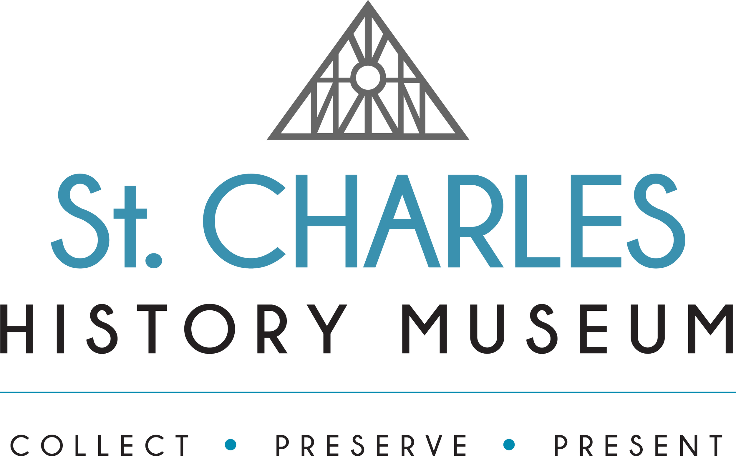 The new logo for the St. Charles History Museum designed by Ellingsen Design