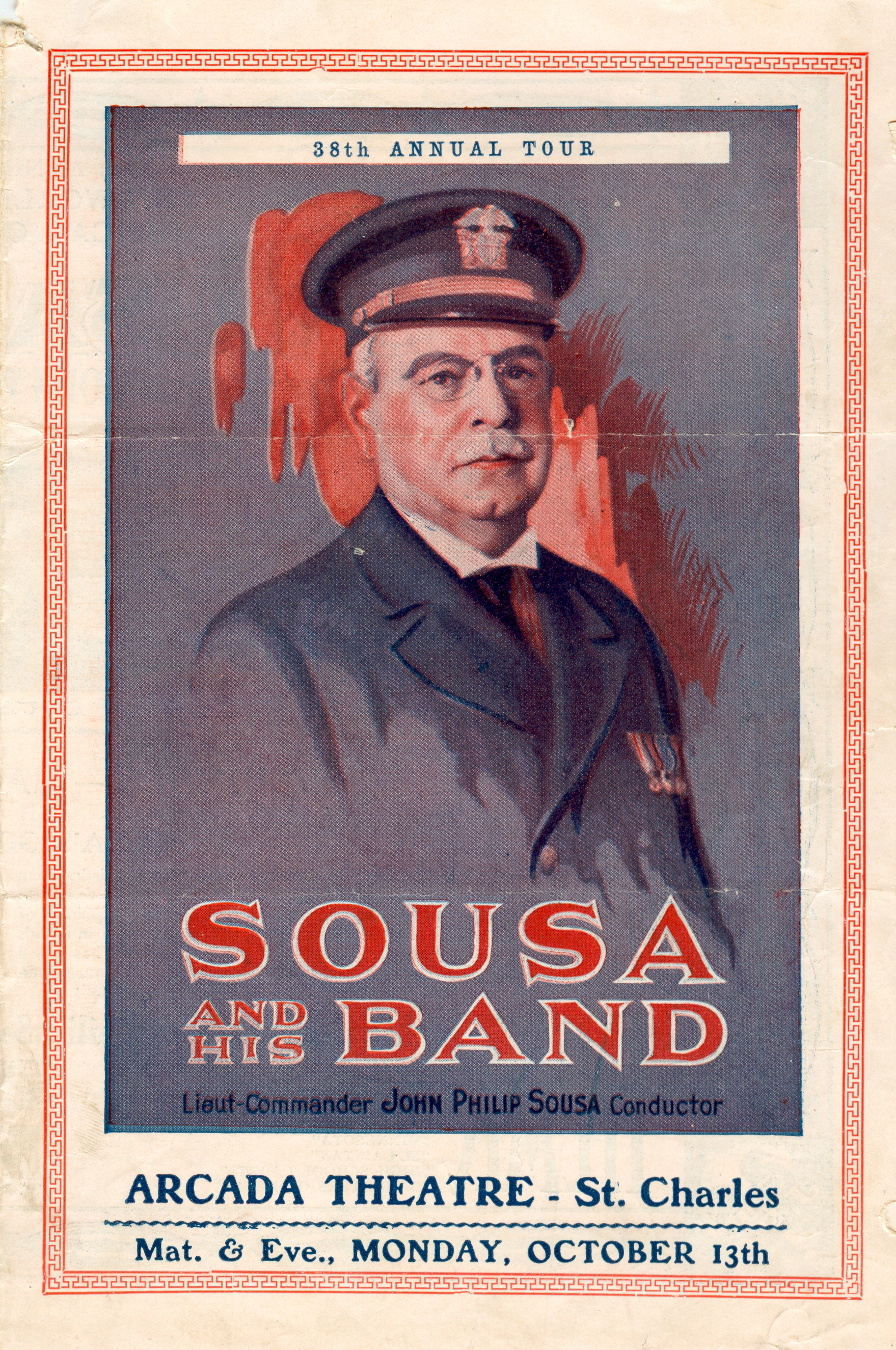 Sousa and His Band 35th Annual Tour Brochure