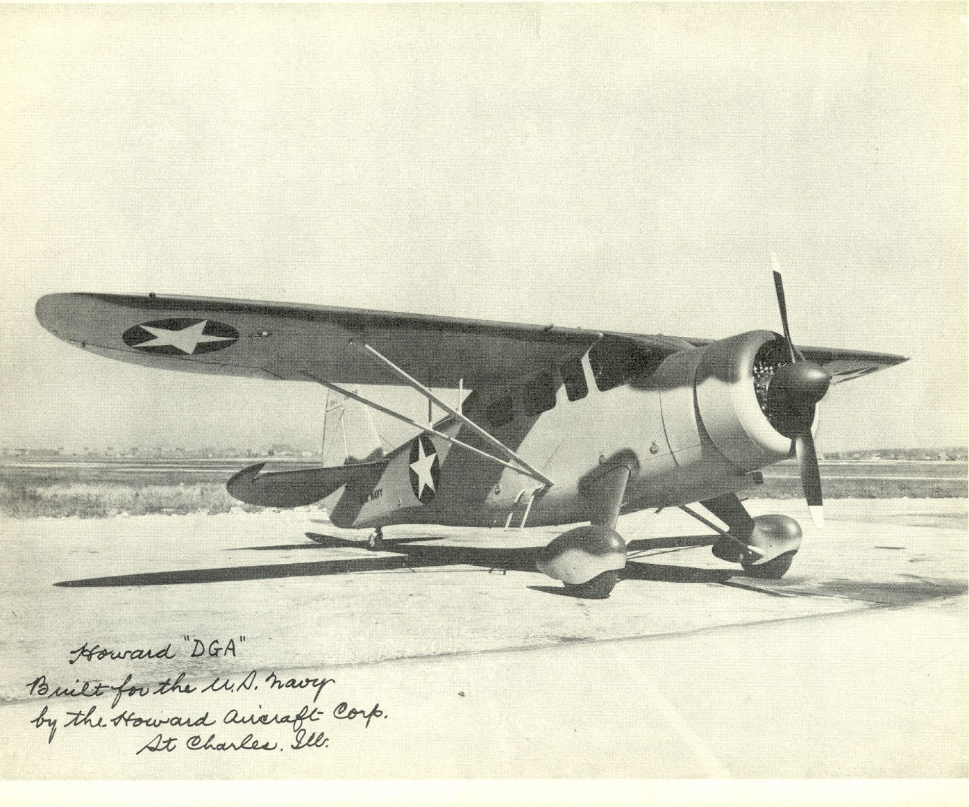 Unknown U.S. Navy plane built by Howard Aircraft Co.