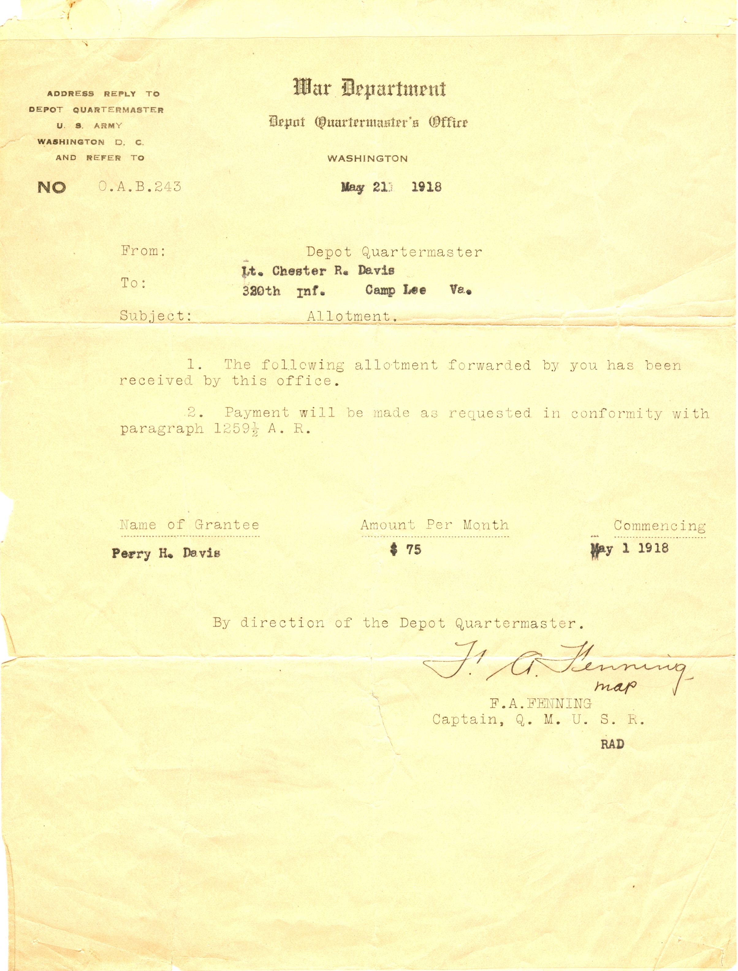 1794 - May 21, 1918 letter from War Department.jpg
