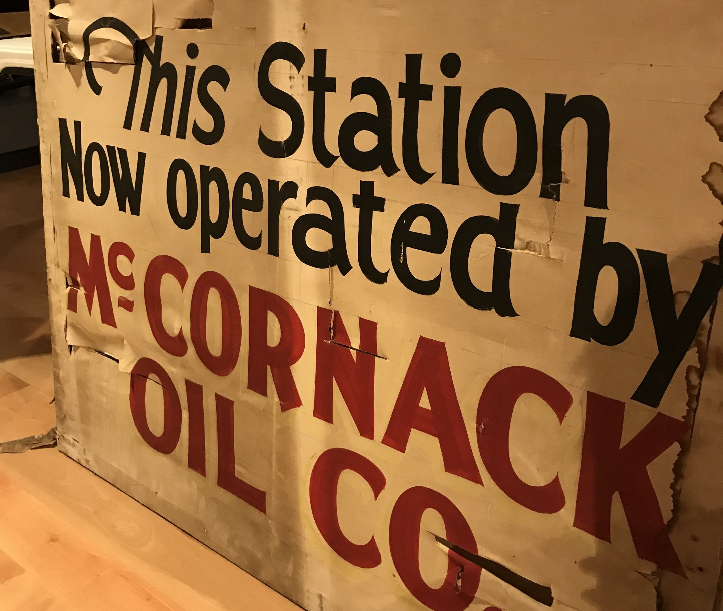 Serving Gas to Preserving History, 2018, Spring Exhibit Created by Amanda Helfers (Spring Intern).