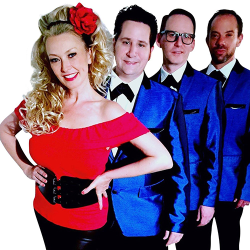 Classic 50s rock group  Rosie and the Rivets  will headline Rockin' on the Rooftop