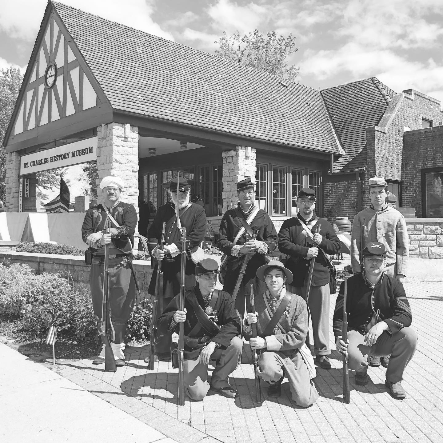 Civil War reenactors outside the museum for our Living History Presentation in recognition of Memorial Day weekend.