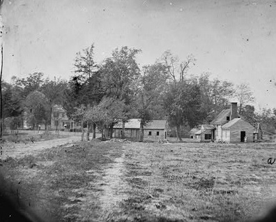 Photograph from the main eastern theater of war, the Peninsular Campaign, May-August 1862.  Courtesy Library of Congress.
