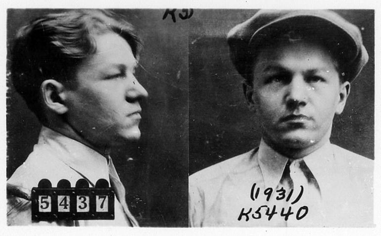 Lester Gillis, AKA Baby Face Nelson, in his FBI Most Wanted Photo in 1931  Photo: fbi.gov