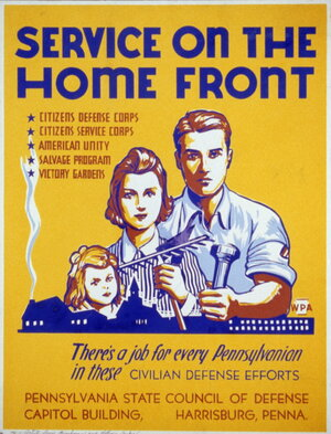 A World War II Poster Promoting Service on the Homefront