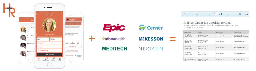 Healthy Roster EHR Integration with Epic, Cerner, Athena Health, McKesson, Meditech, and Nextgen