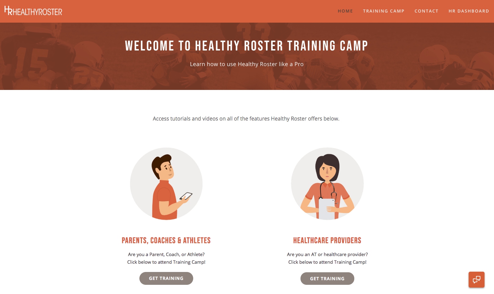 Healthy Roster Training Camp Home Page