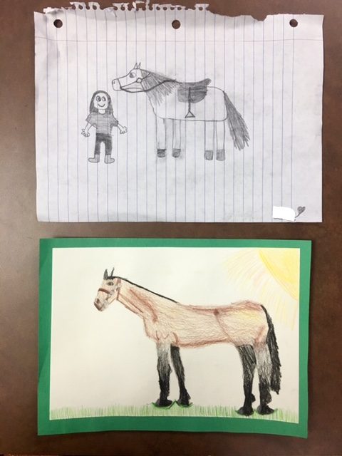 before & after instruction :)  by: Jane, Age 9