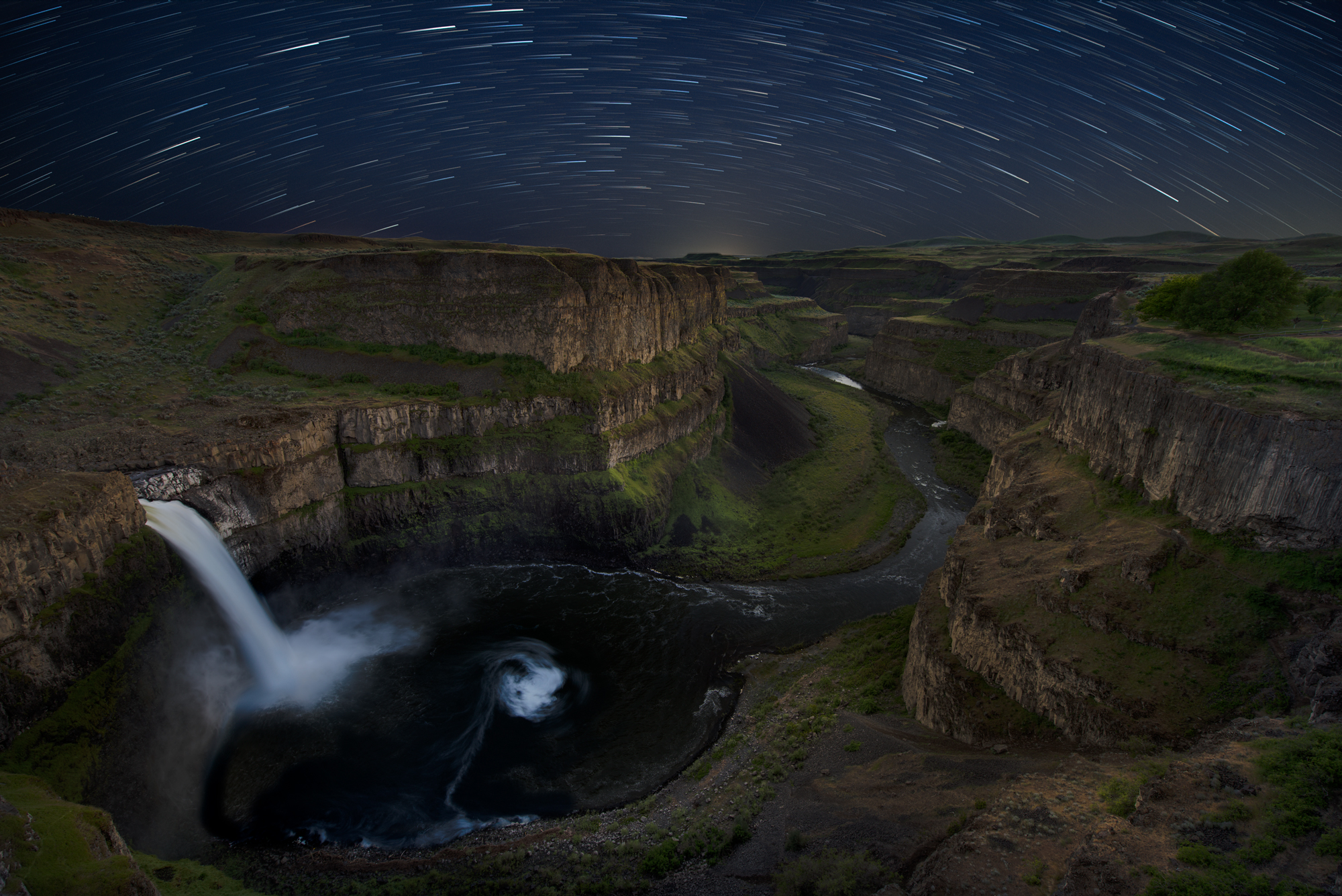 Star Trails over Palouse Falls