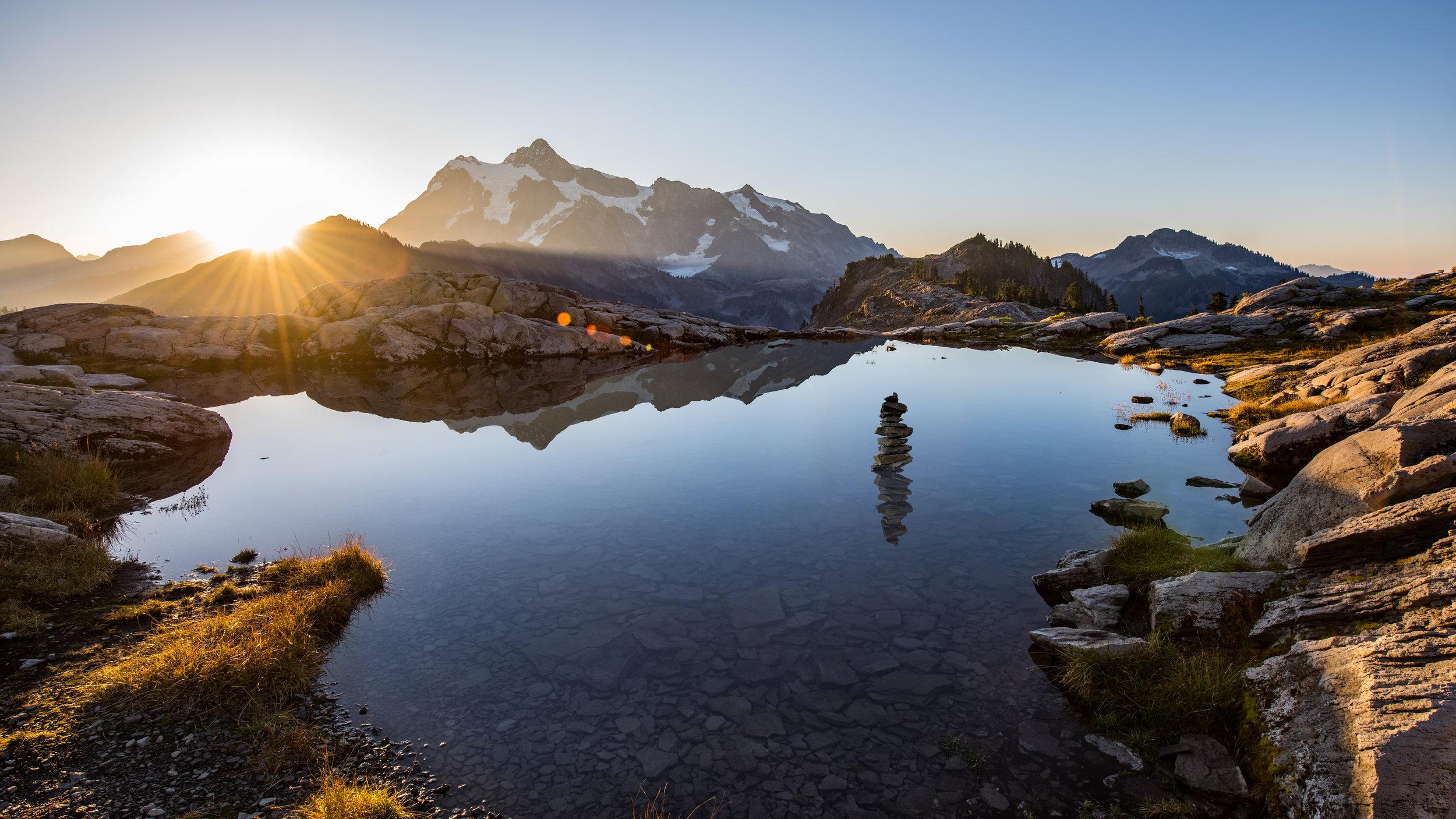 Sunrise over Mount Shuksan