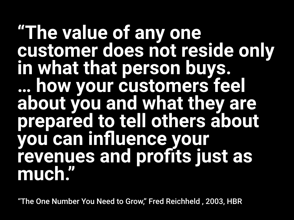 Read the HBR article which features  this quote here .