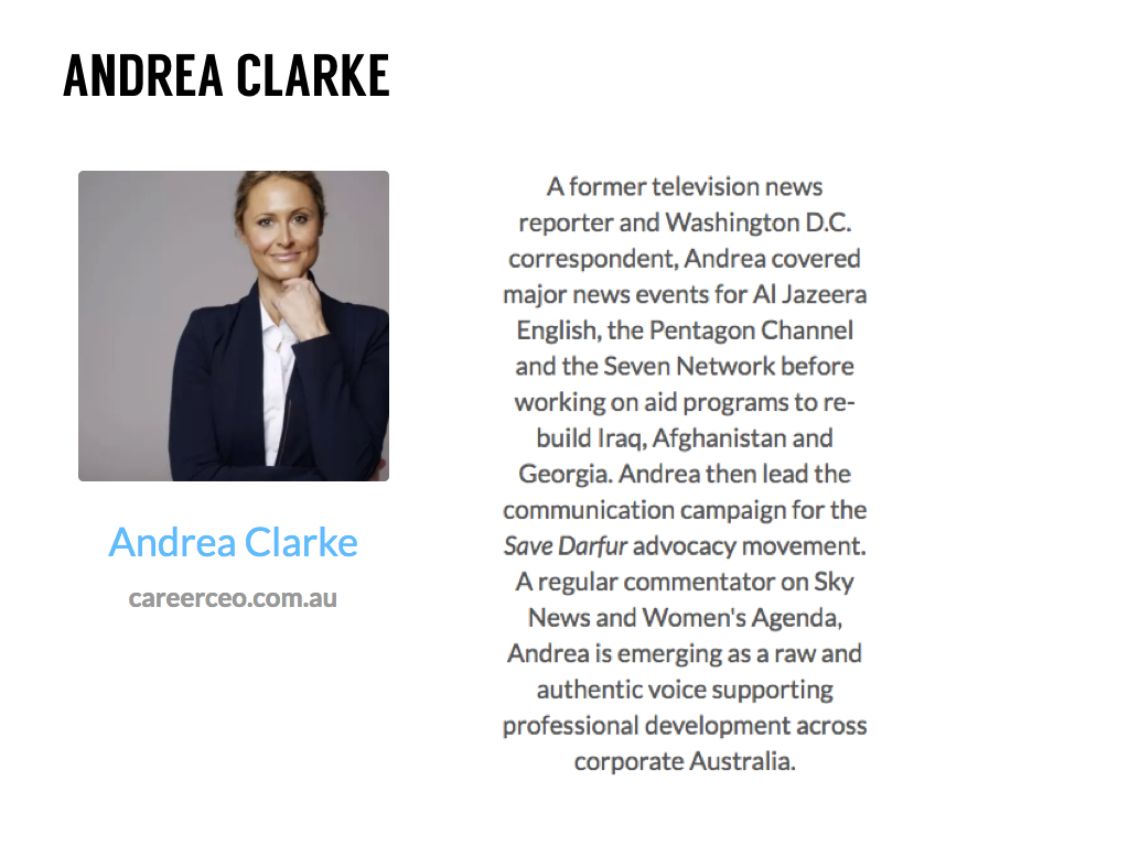 Andrea Clarke CEO Career