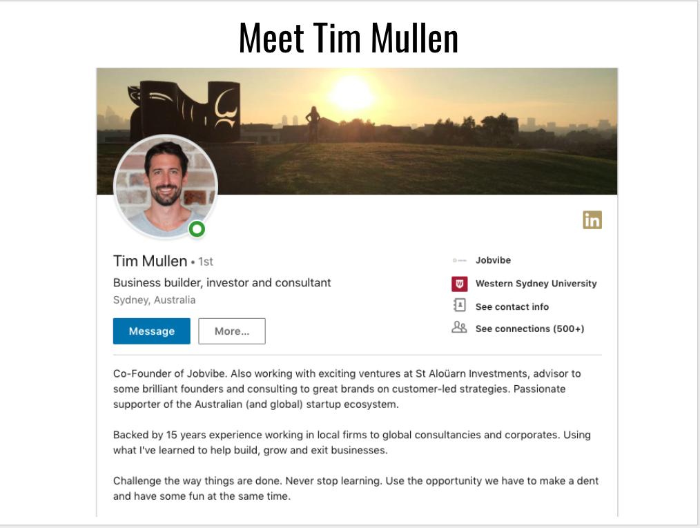 Tim Mullen  LinkedIn