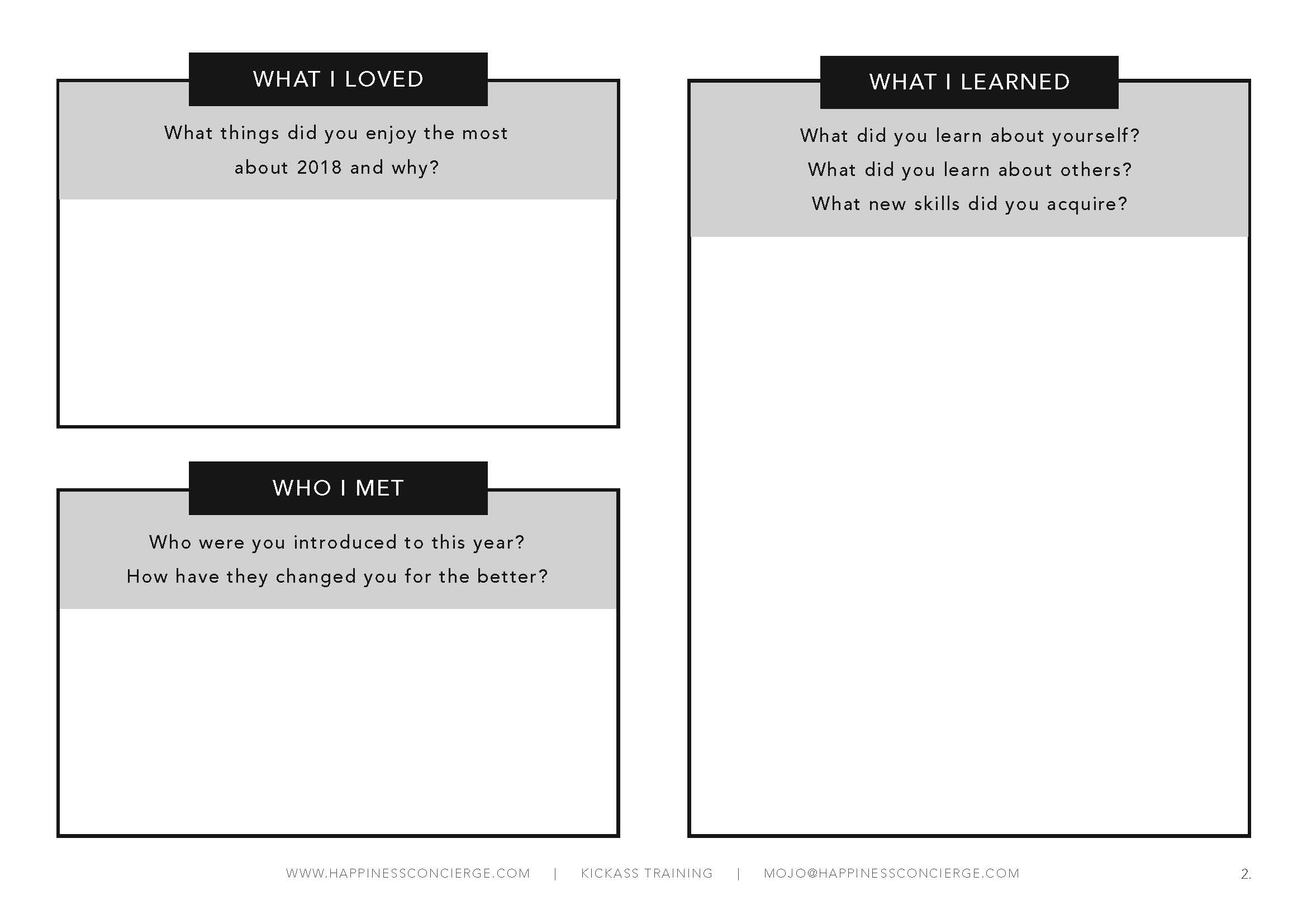 Download this worksheet  so you can see how much you've slayed this year!