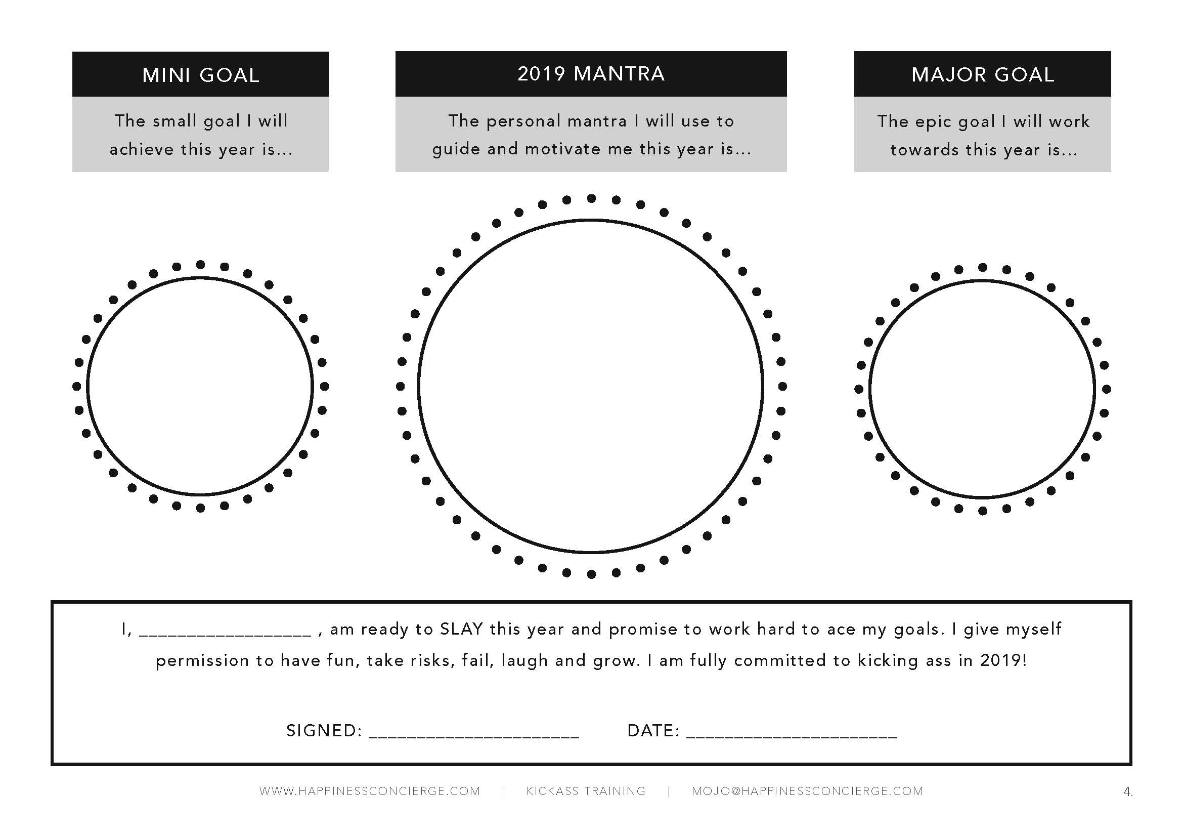 Download the PDF worksheet  so you can plan how you'll tackle 2019! GET IT!