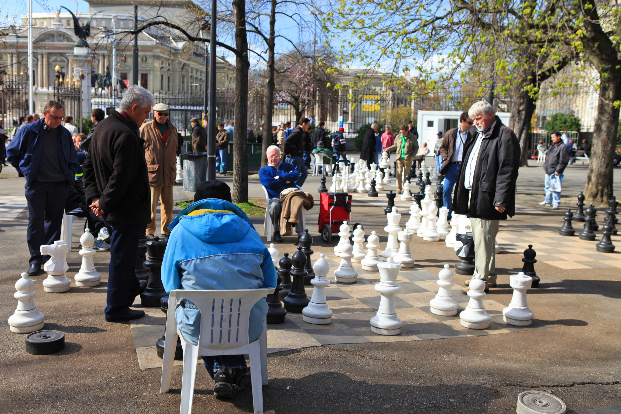 Fig: 14: Chess playing in  Parc des Bastions , Geneva