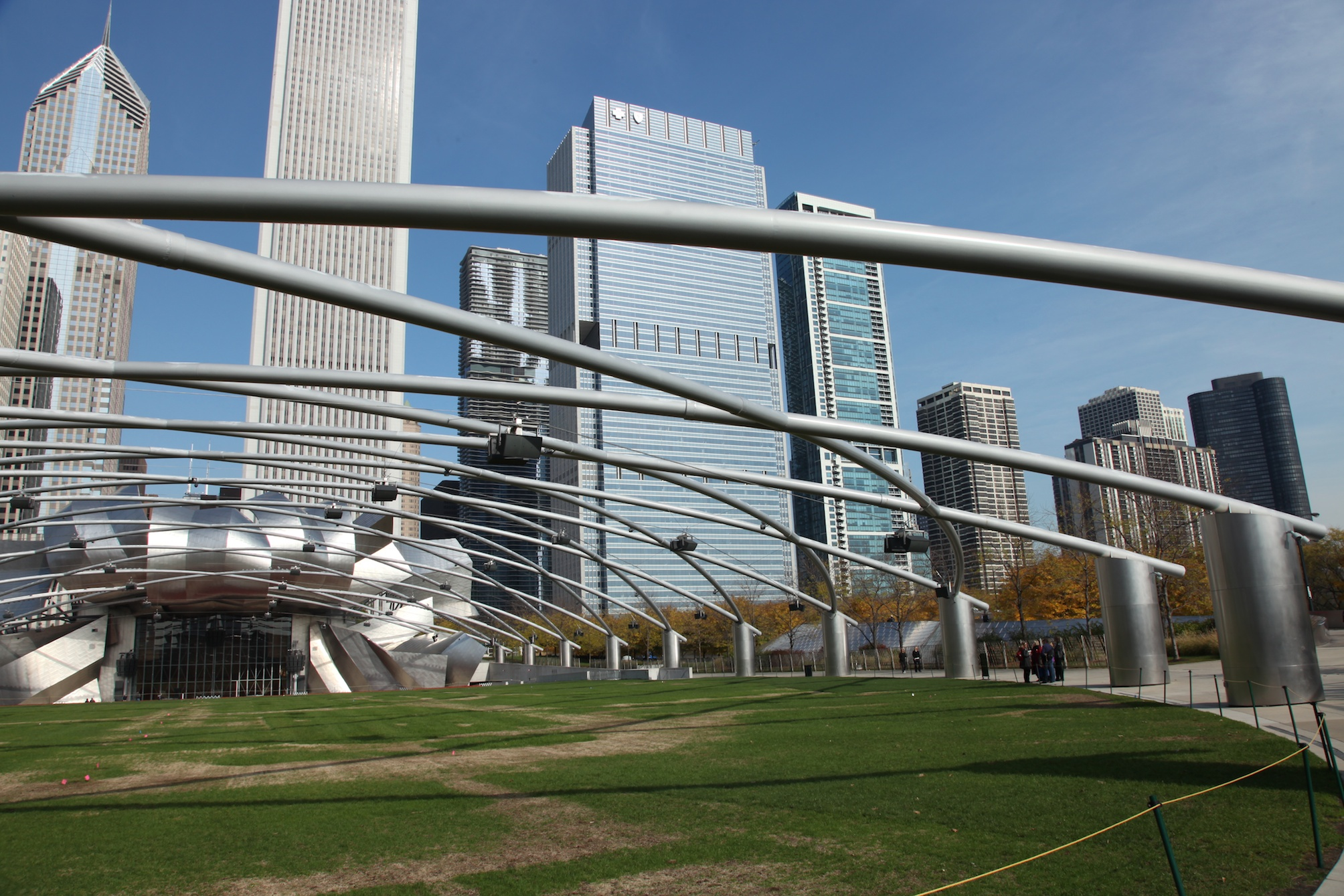 Fig 15:  Jay Pritzker Pavilion  Amphitheater in Millennium Park, Chicago