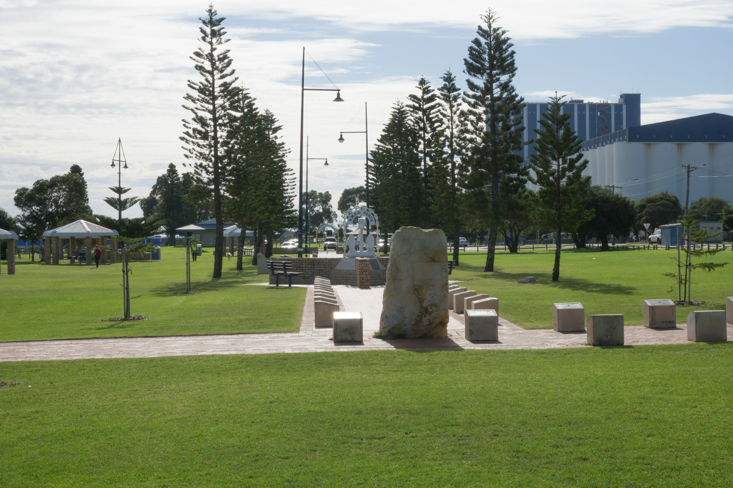 Fig 38: A section of a larger foreshore reserve dedicated to a memorial to the Australian Navy – an acquired place.