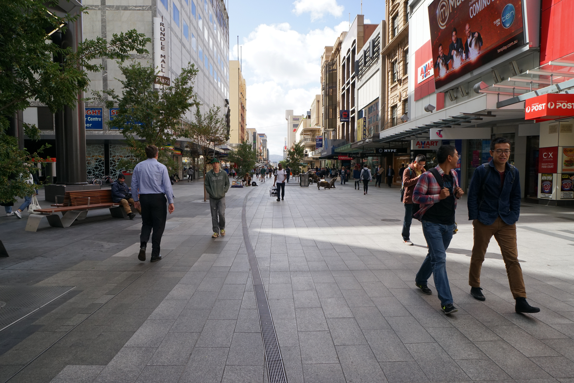 Fig 9: Rundle Mall in Adelaide