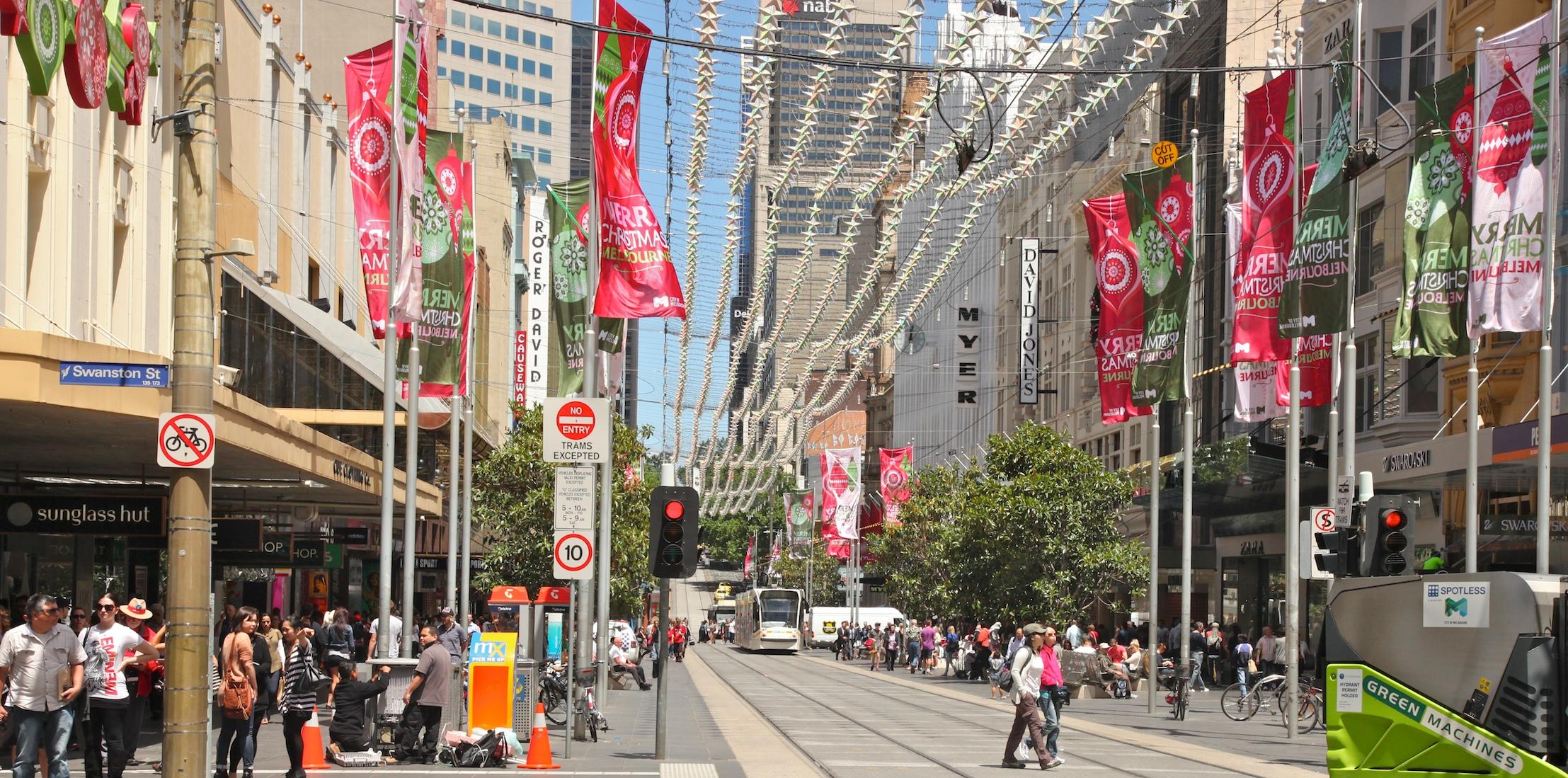 Fig 10: Burke St mall, Melbourne