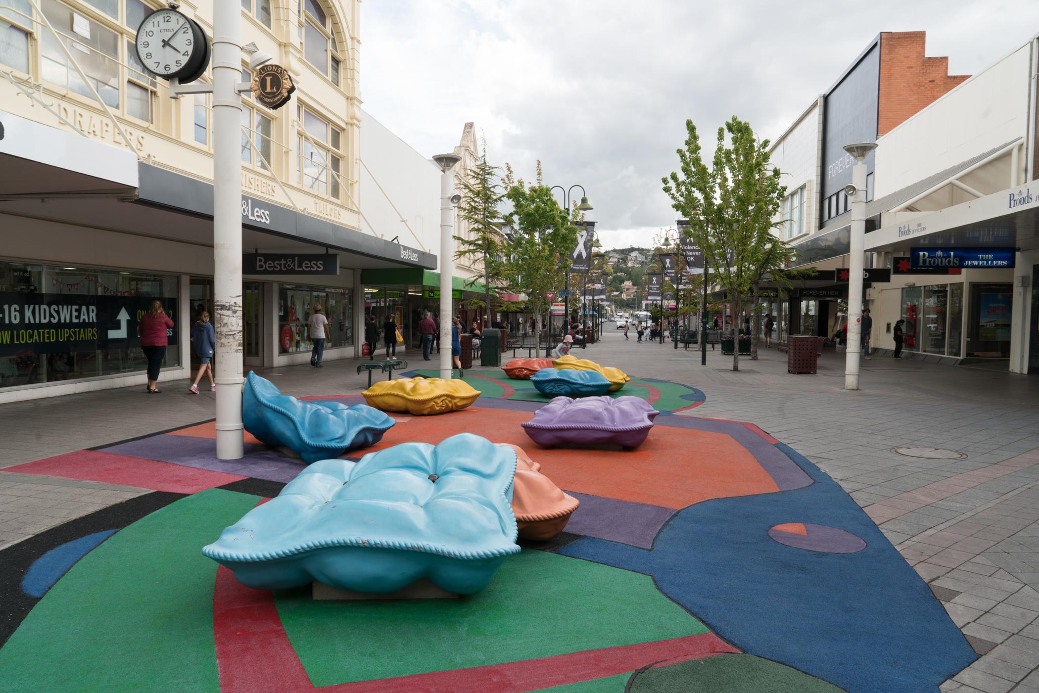 Fig 12: Public art in the Launceston shopping mall