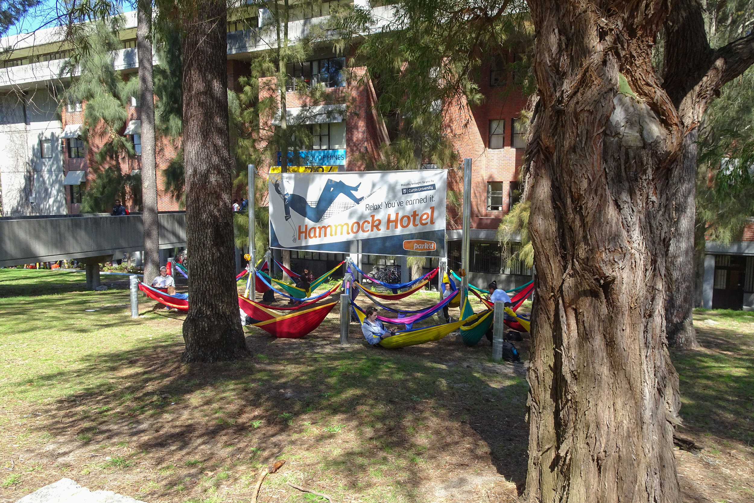 Fig 31: Hammocks provided at Curtin University as a way to add to the sense of place